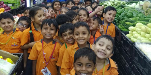 Pre Primary Students visited at Reliance Fresh