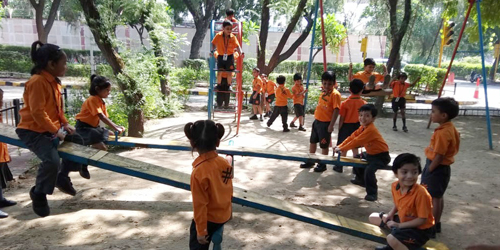 Pre-Primary students visited at Traffic Training Park