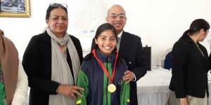 Lavanya of class VII got Gold Medal in Karate championship held at CST PAULs school,Jangpura, New Delhi on 07082016
