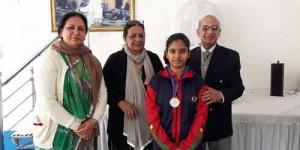 Shambhavi of class VIII got Silver Medal in Karate championship held at CST PAULs school,Jangpura, New Delhi on 07082016