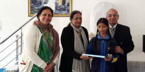 Ritika of class VII got Consolation prize in DRAWING AND SLOGAN competition(group3) held at Malvia Nagar on 17 dec 2016