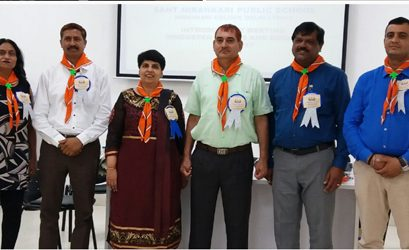 Felicitation of Honourable Principal By Hindustan Scouts And Guides