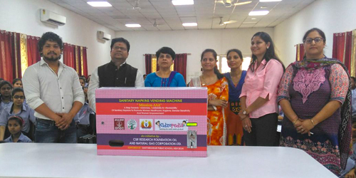 Installation of Sanitary Napkins Vending Machine in the School Premises